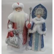 Набор Дед Мороз и Снегурочка из ткани №40