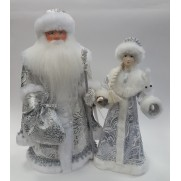 Набор Дед Мороз и Снегурочка из ткани №41