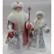 Набор Дед Мороз и Снегурочка из ткани №42