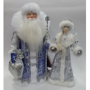 Набор Дед Мороз и Снегурочка из ткани №43