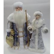 Набор Дед Мороз и Снегурочка из ткани №44