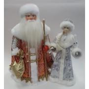 Набор Дед Мороз и Снегурочка из ткани №45