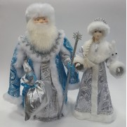 Набор Дед Мороз и Снегурочка из ткани №46
