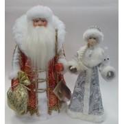 Набор Дед Мороз и Снегурочка из ткани №47