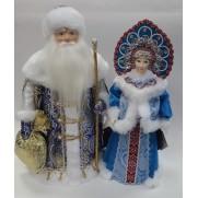 Набор Дед Мороз и Снегурочка из ткани №48