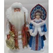 Набор Дед Мороз и Снегурочка из ткани №49