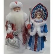 Набор Дед Мороз и Снегурочка из ткани №50
