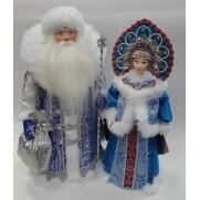 Набор Дед Мороз и Снегурочка из ткани №51