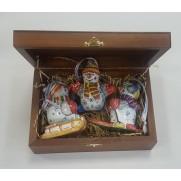 Набор игрушек Три снеговика Спортсмена (3 шт)