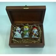 Набор игрушек Снеговики-спортсмены 1 (3шт)