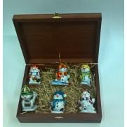 Набор игрушек Снеговики-3 (6шт)
