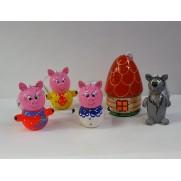 Набор елочных игрушек Три поросенка (5 шт)