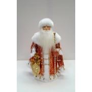 Дед Мороз Воевода в красной шубе 34см (арт. д34-001кс 055-1КС)