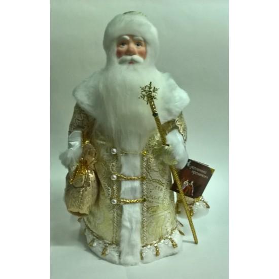 Дед Мороз Воевода в золотой шубе 34см (арт. д34-001зол 055)