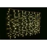 Световой занавес LED 240 теплых белых диодных ламп, каждая 6 лампа мигает, с возможностью соединения до 4 сегментов, 2*1,5 м, на белом каучуковом проводе, для внутреннего и наружнего применения