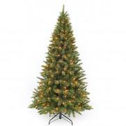 Триумф ель Лесная красавица стройная 120 см 88 ламп зеленая